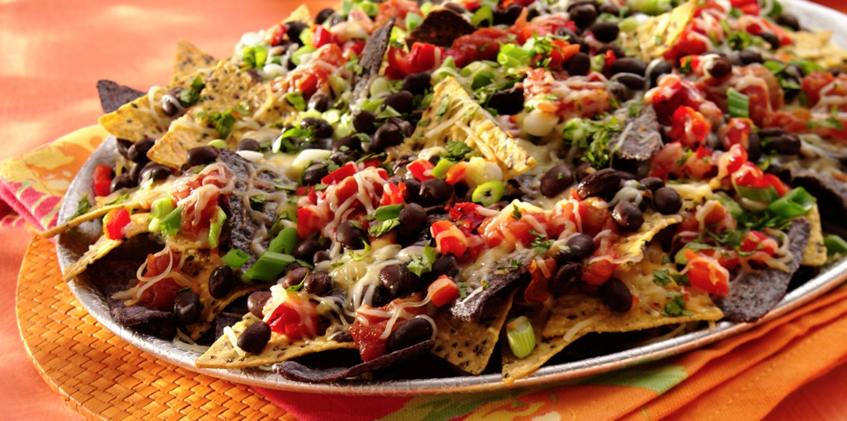 Cheese & Black Bean Nachos