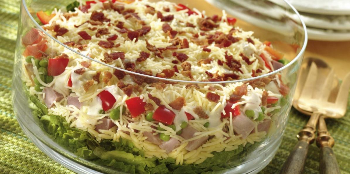 Make-Ahead Layered Orzo Salad
