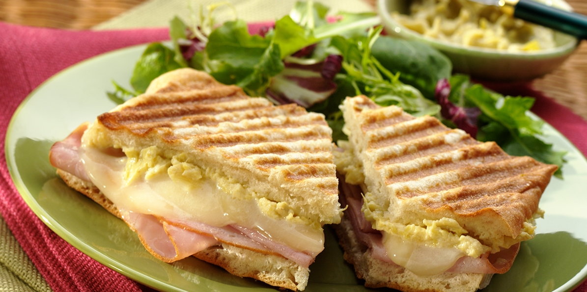 Sharp Provolone and Ham Panini
