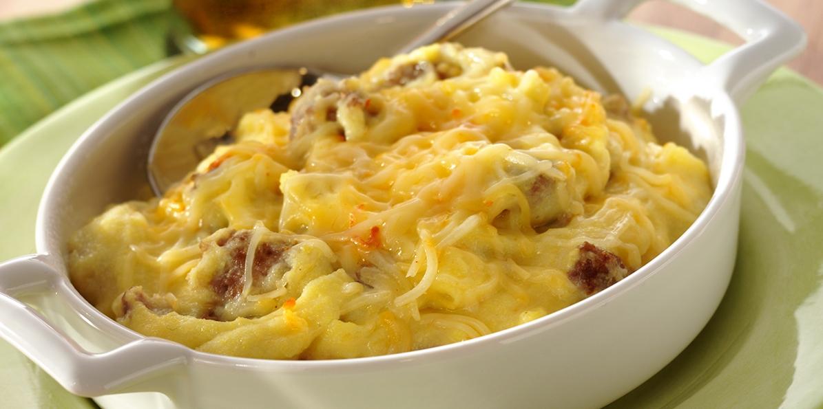 Creamy Polenta with Sausage