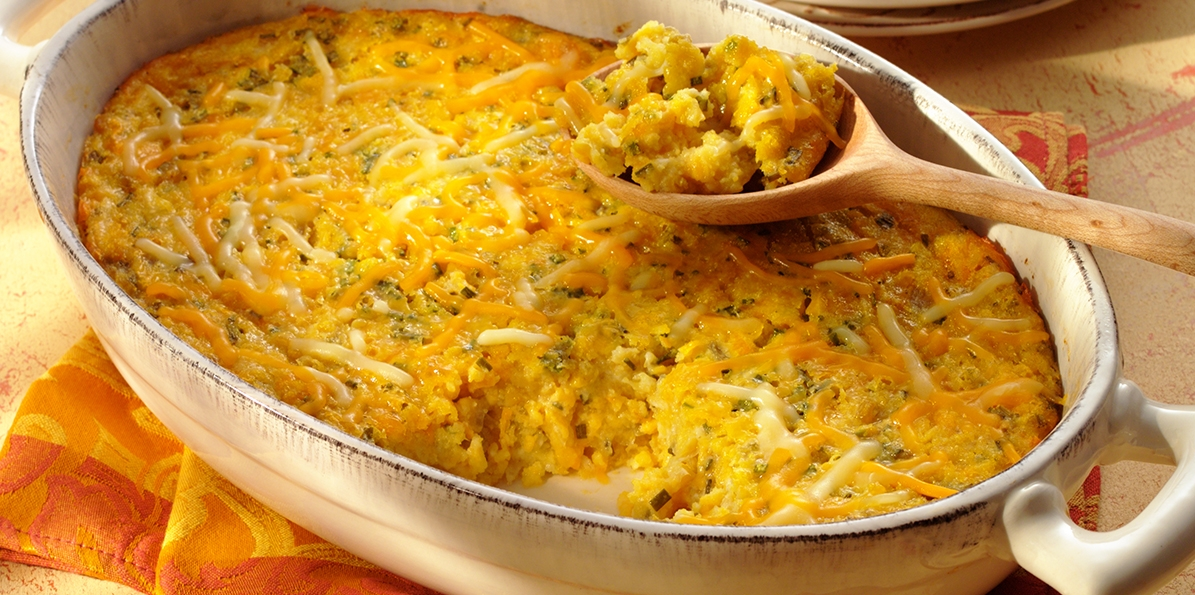 Corn, Cheese & Chive Casserole