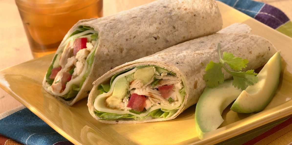 Chicken, Avocado & Provolone Wraps