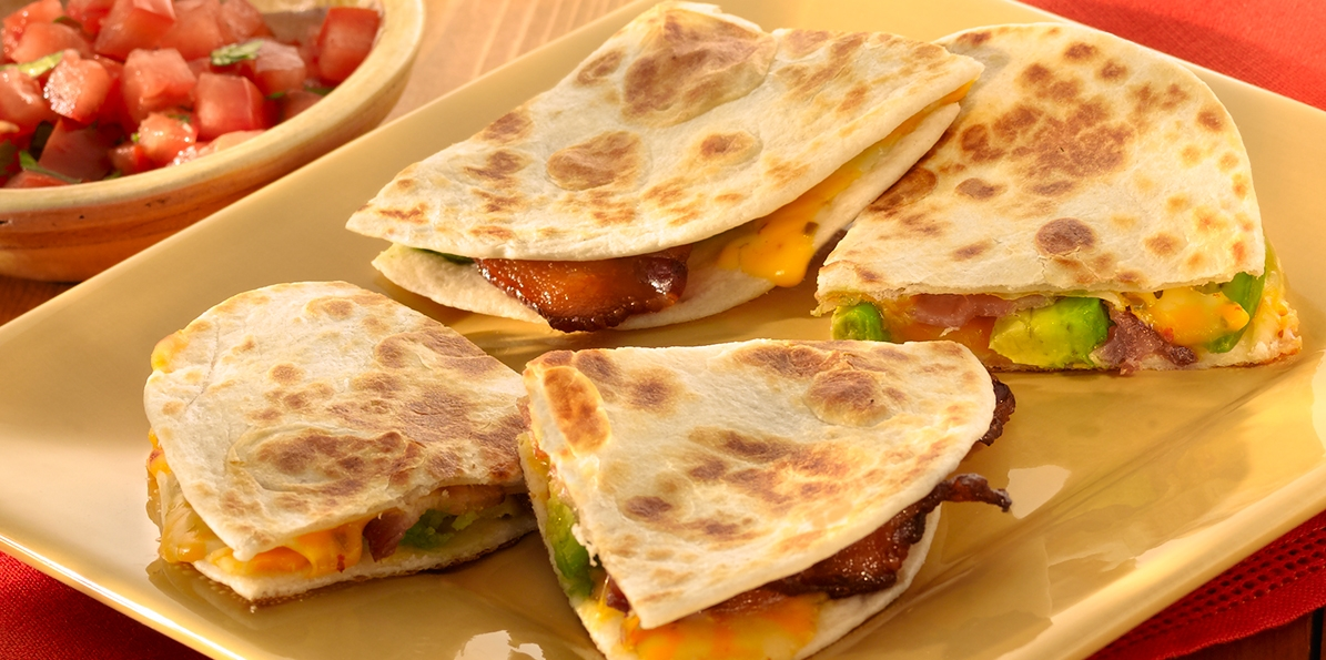 Cheese, Bacon & Avocado Quesadilla