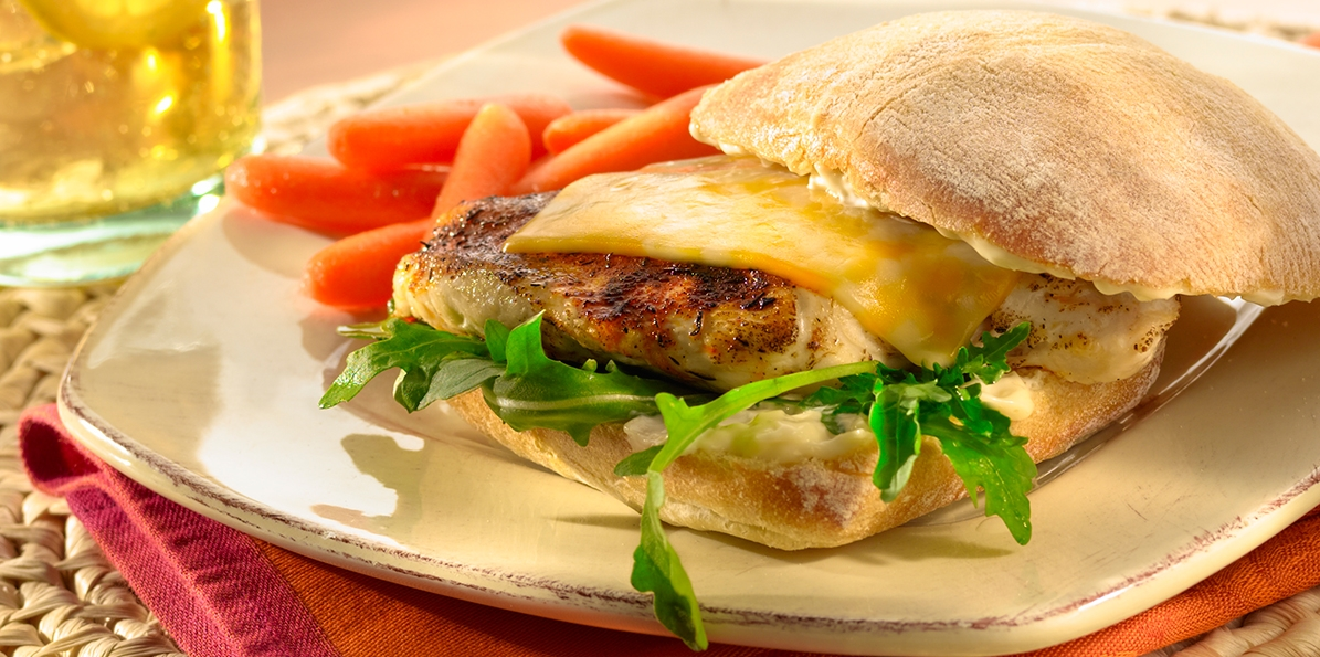 Grilled Chicken & Marbled Cheese Sandwiches