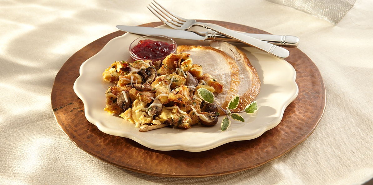 Mushroom Stuffing with Parmesan