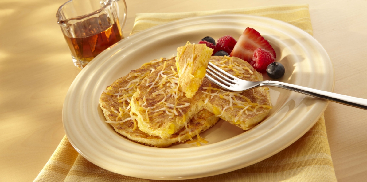 Colby-Jack Corn Cakes