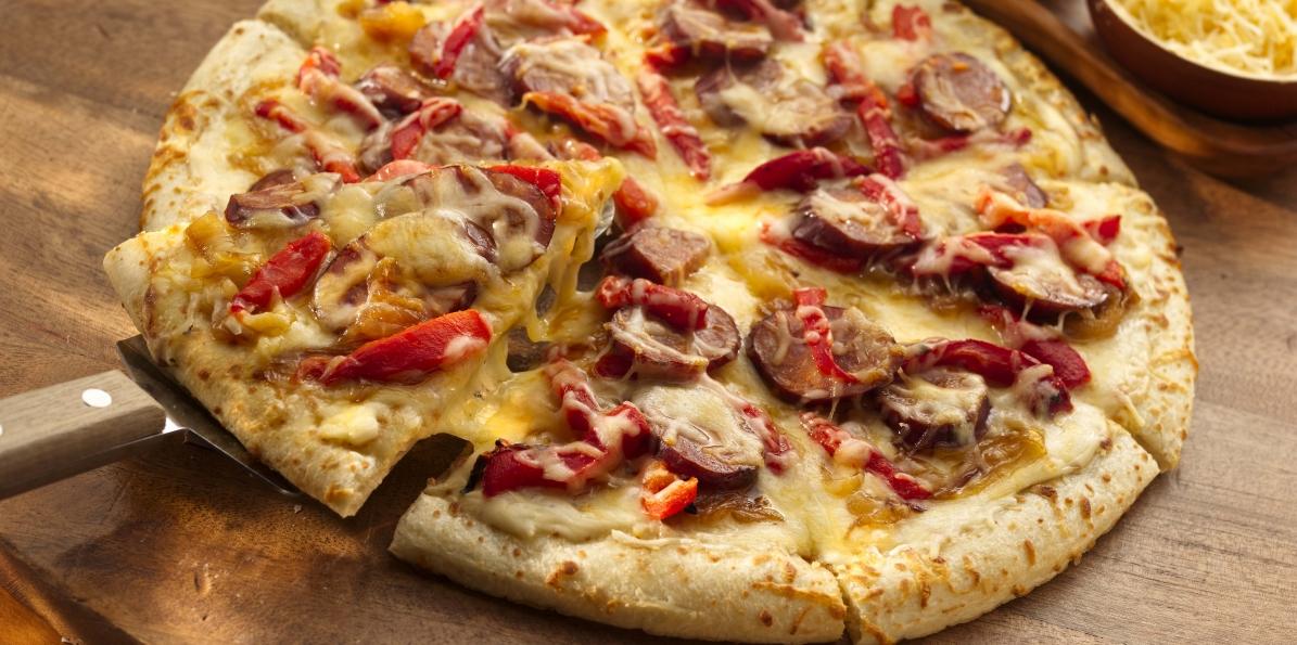 Chorizo & Caramelized Onion Pizza