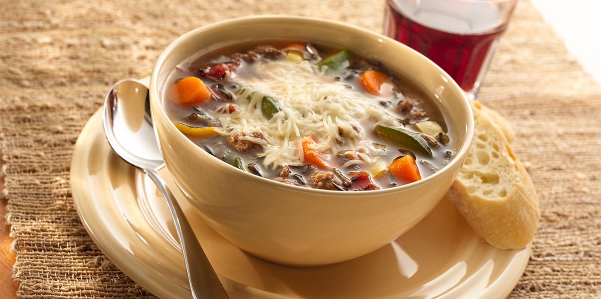 Six Cheese Italian & Rice Soup