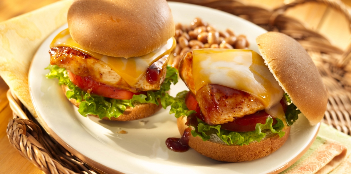 Barbecued Chicken Sliders