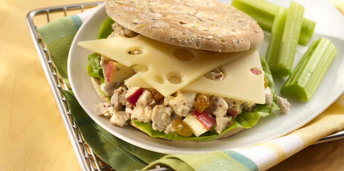 Fruited Chicken Salad & Swiss Cheese Sandwiches