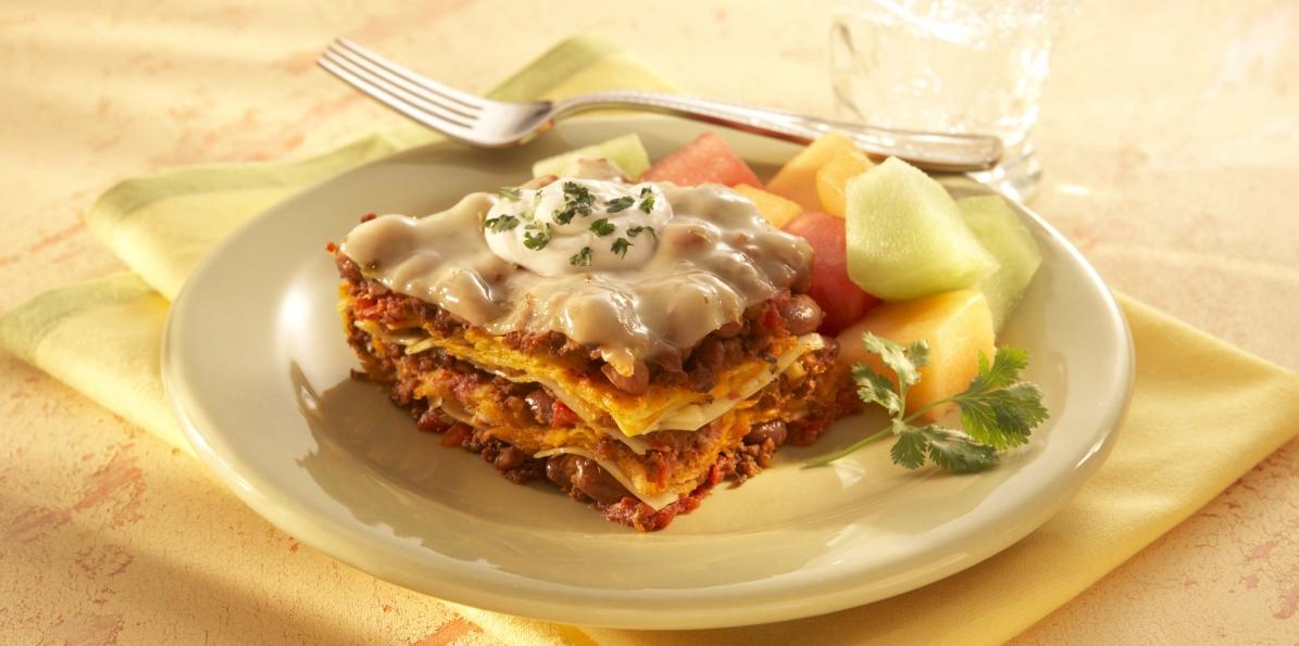Pepper Jack Tortilla Lasagna