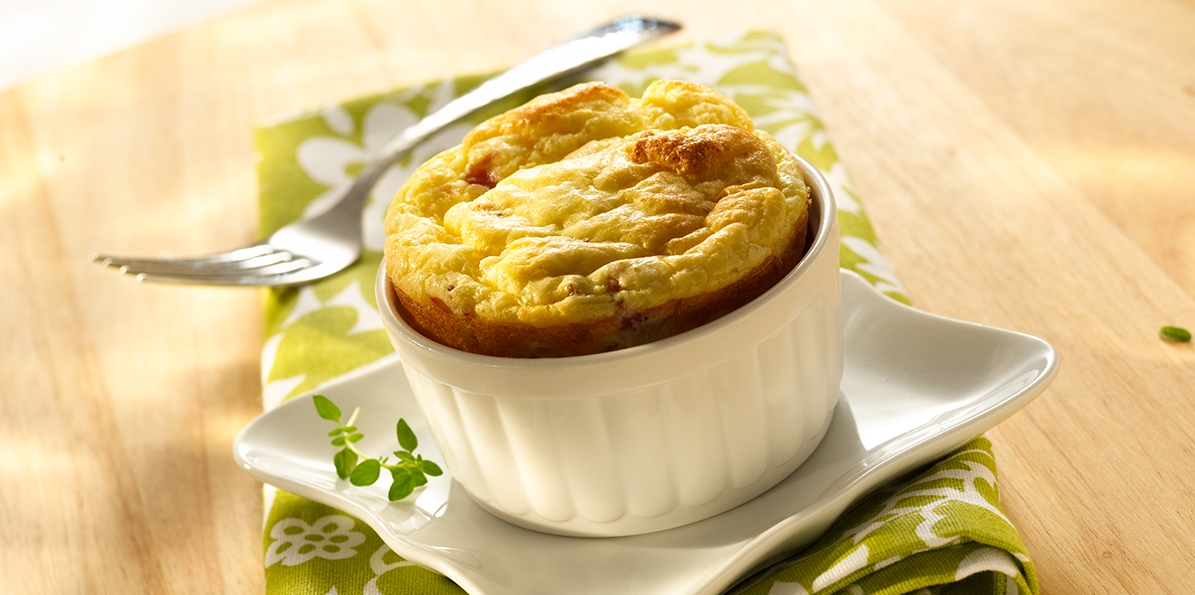 Cheese and Prosciutto Souffle
