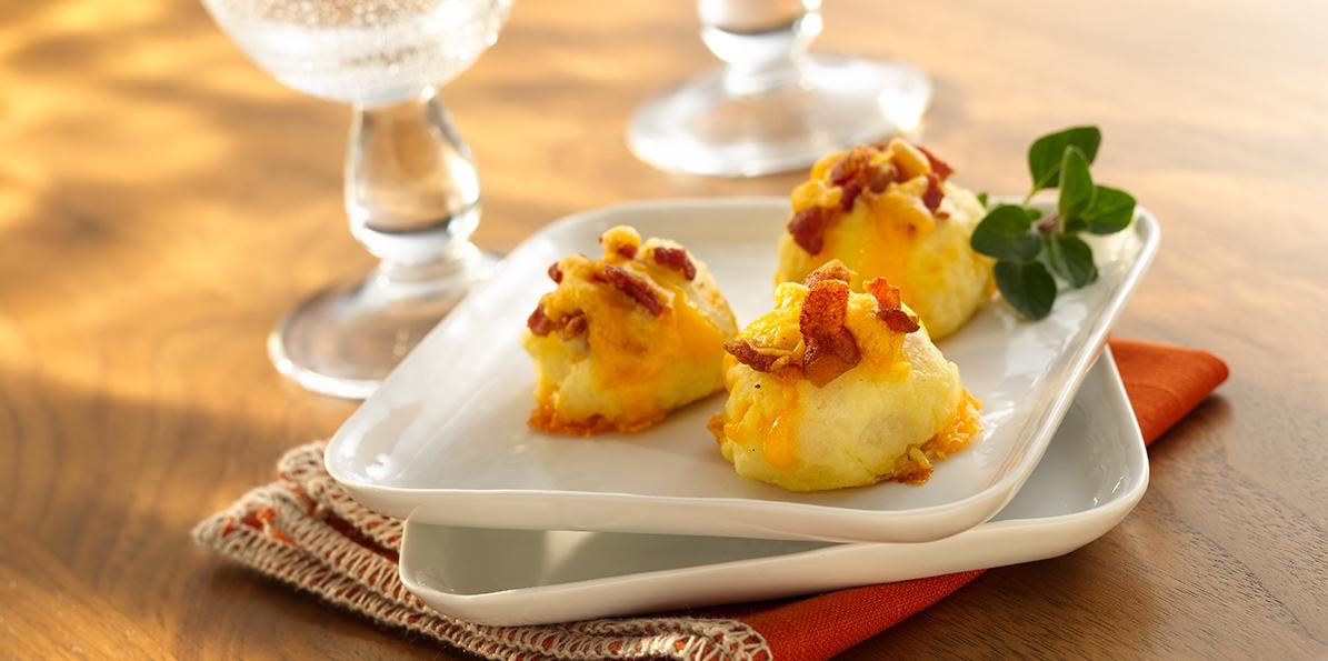 Cheddar Bacon Potato Puffs