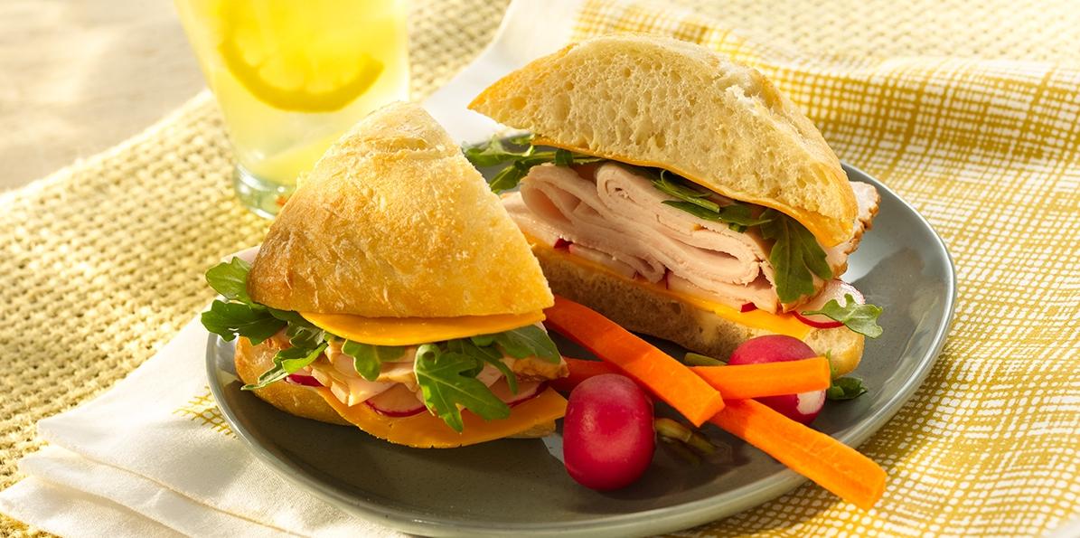Turkey & Vegetable Sandwiches