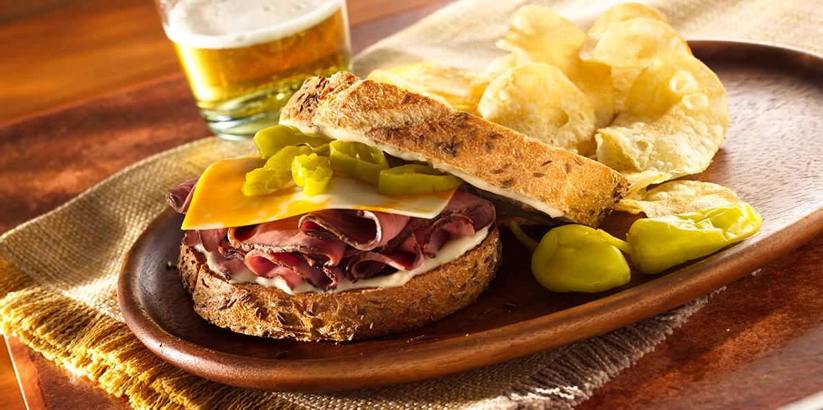 Roast Beef & Cheddar-Jack Sandwiches