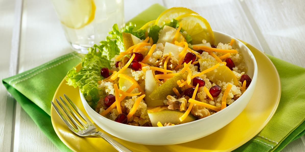 Quinoa Pear & Toasted Walnut Salad