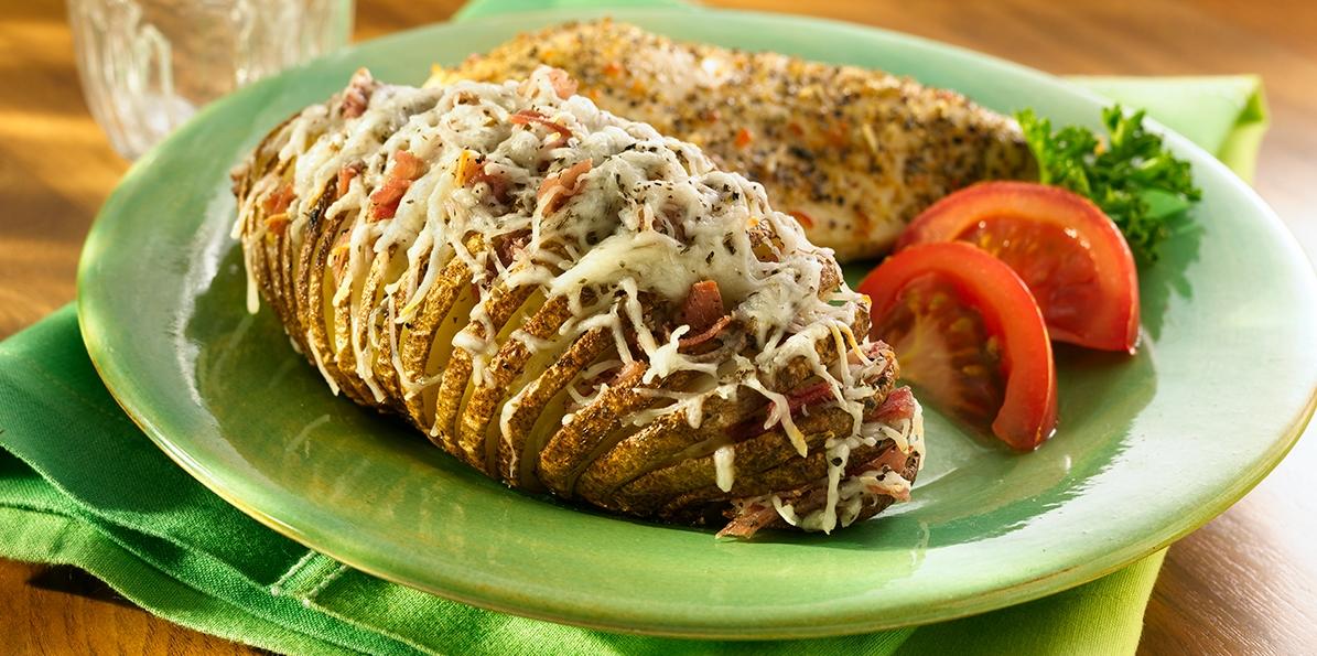 Italian Cheese & Prosciutto Potatoes