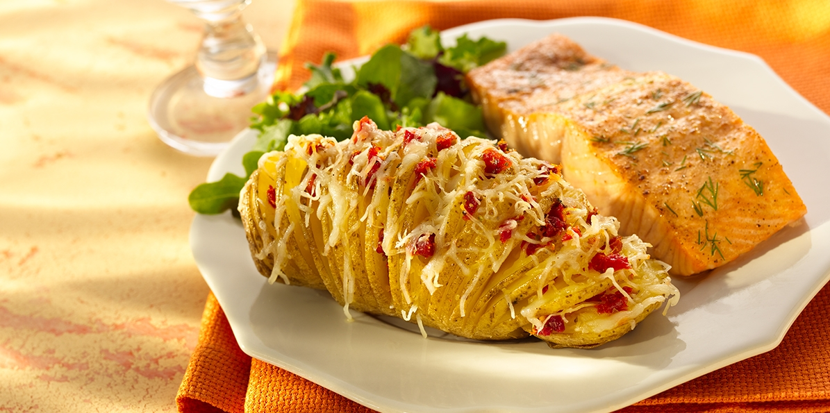 Tomato & Cheese Potatoes