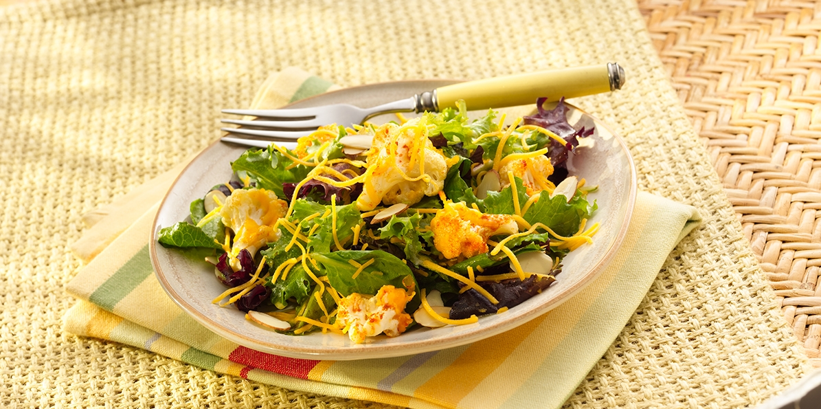 Roasted Cauliflower & Cheddar Salad