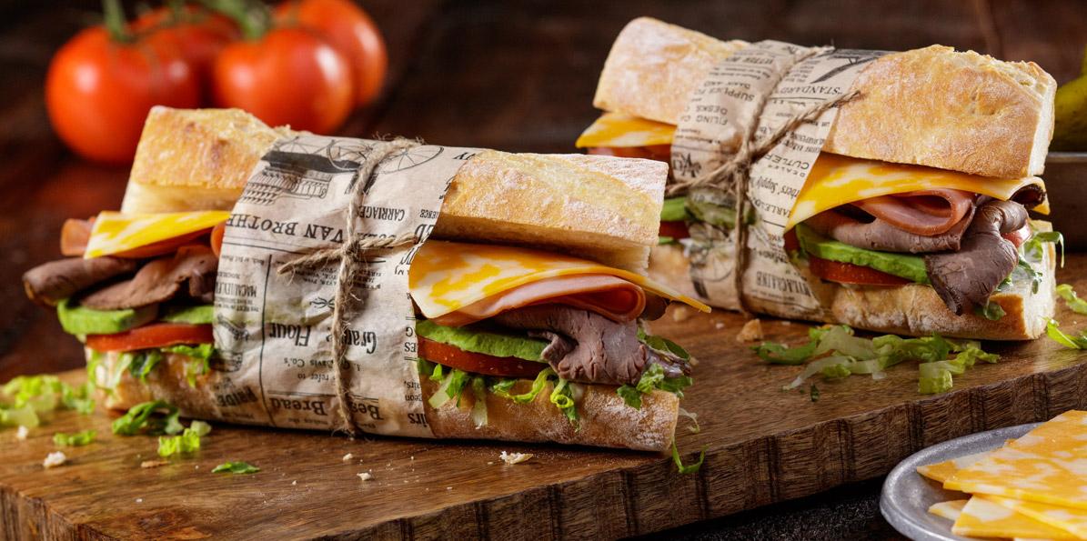 2 Cheese Cheddar Deli Sandwich