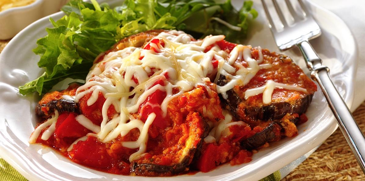 Eggplant & Red Pepper Parmesan