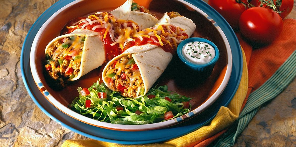 Cheese & Beef Enchiladas