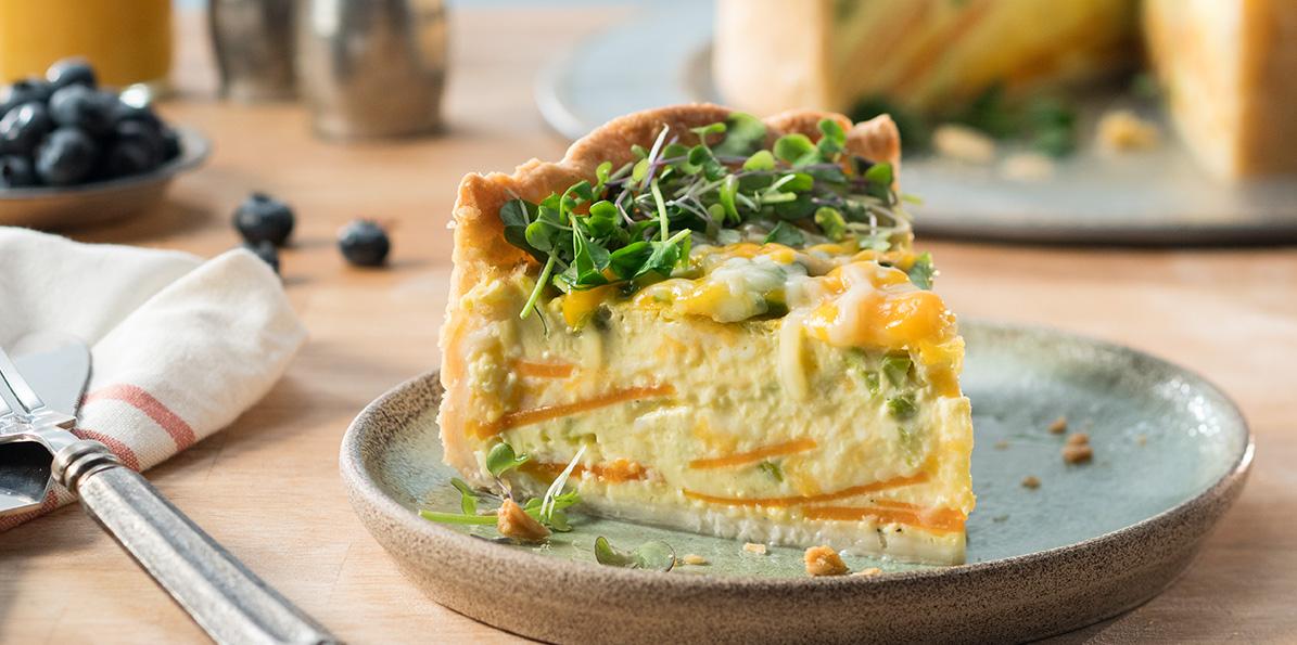 Asparagus & Sweet Potato Quiche