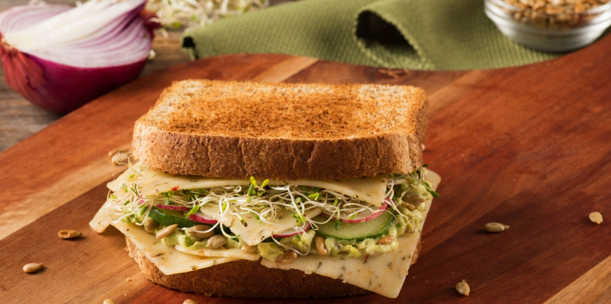 Avocado and Cucumber Power Sandwich