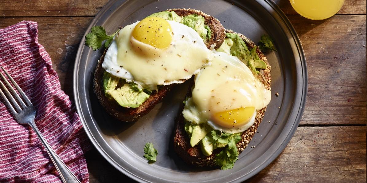 Cheesy Eggs and Avocado Toast