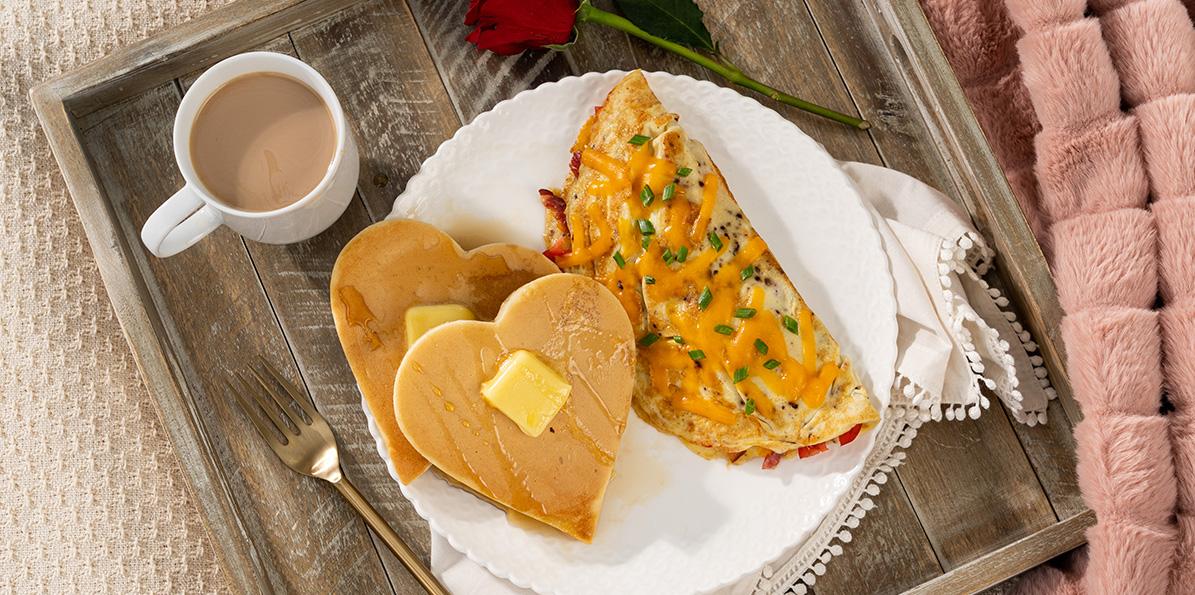 Cheddar Veggie Omelet