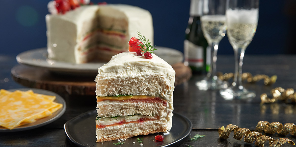 New Year Sandwich Cake