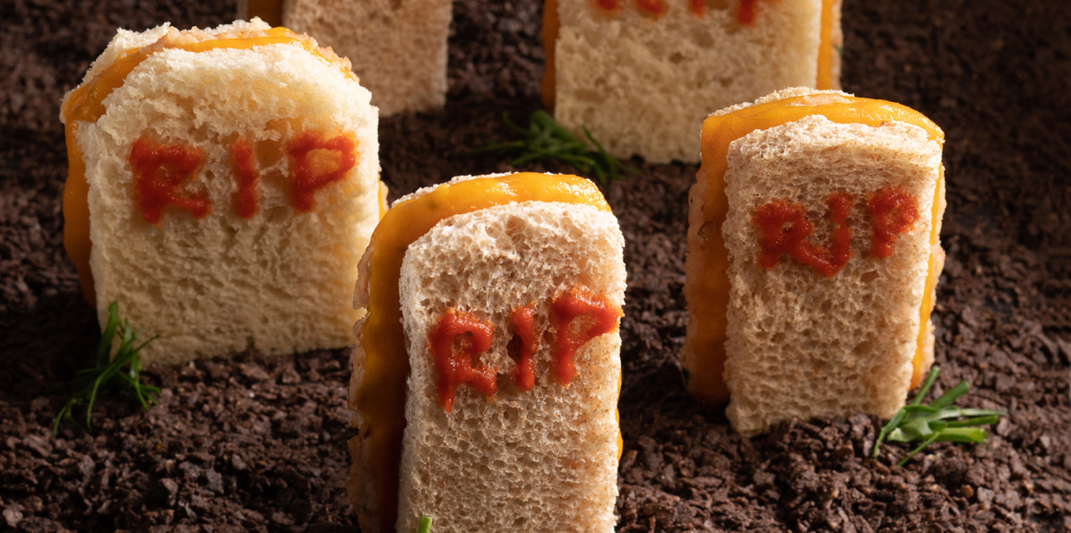 Tombstone Halloween Sandwiches