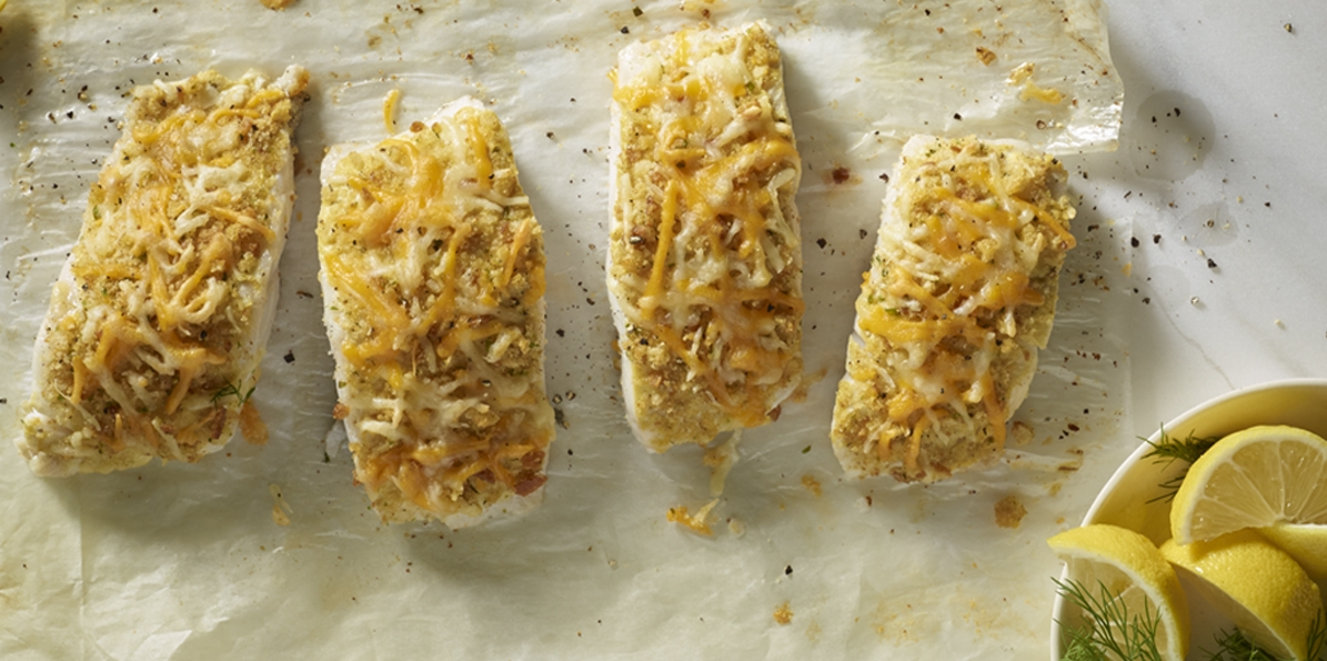 Double Cheddar Baked Fish