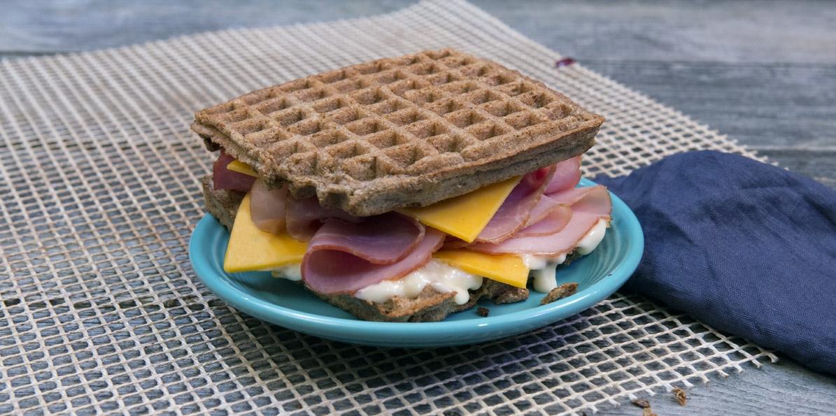 Ham & Cheese Waffle Sandwich