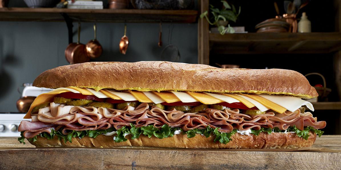 Oversized Turkey & Ham Hero Hoagie