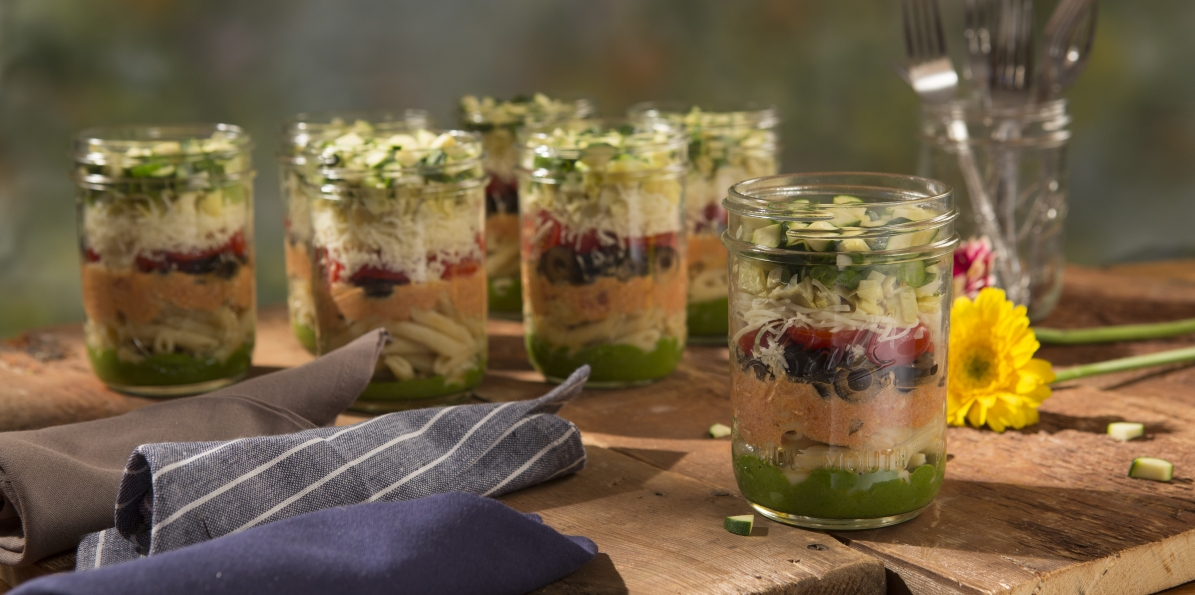 Best Ever Pasta Salad in a Jar