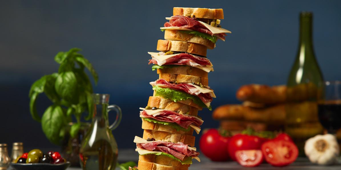 Prosciutto Baguette Slider Sandwiches