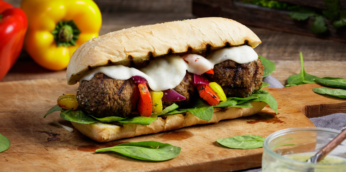 Grilled Meatball and 5 Cheese Italian Hoagies