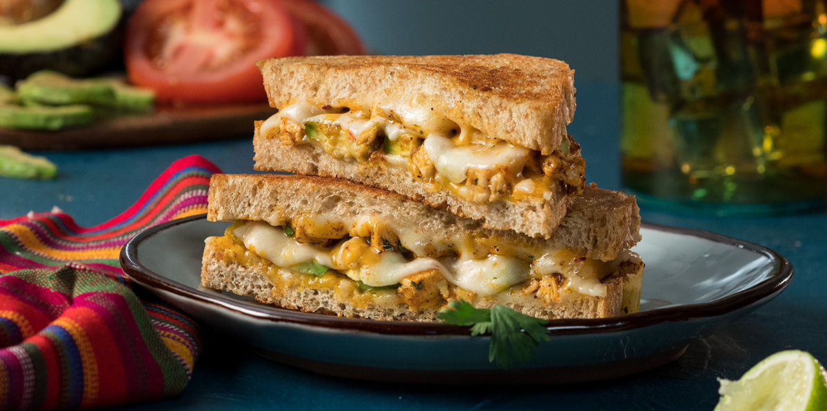 Mexi-Chicken Grilled Cheese