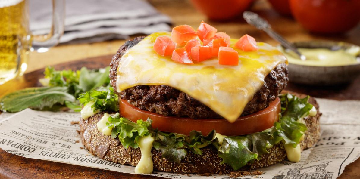 Open-Face Cheeseburger Melts