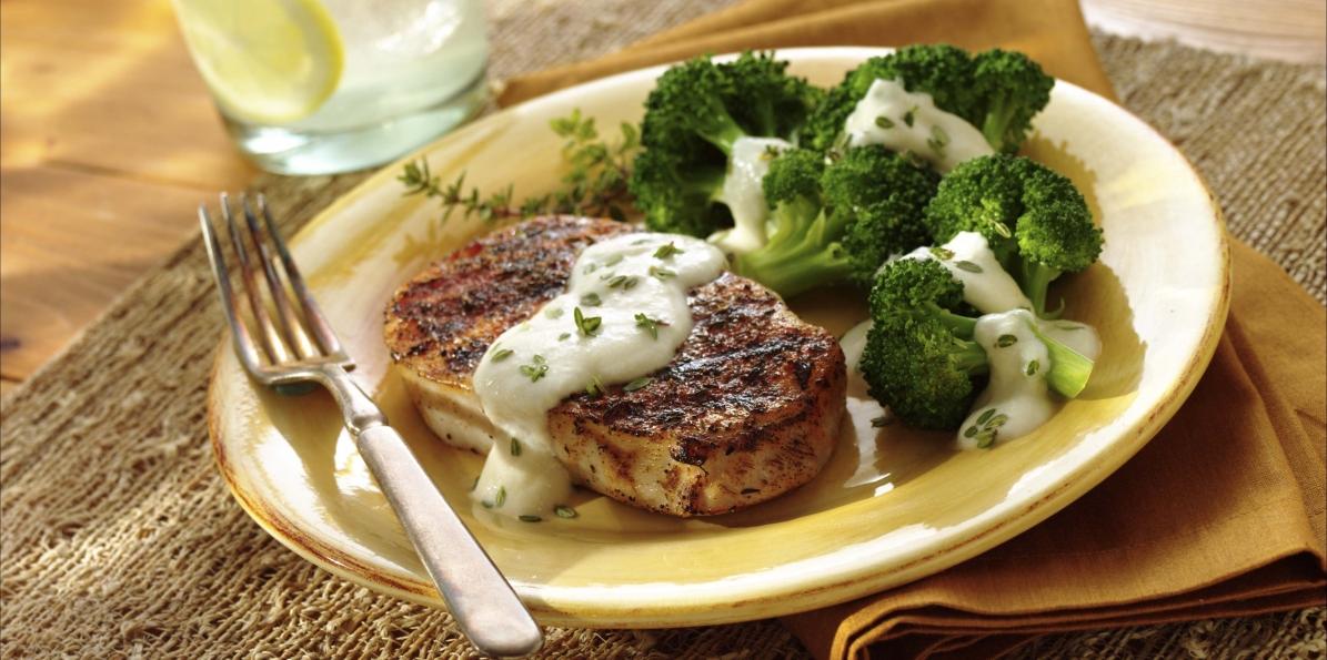 Pork Chops with Broccoli