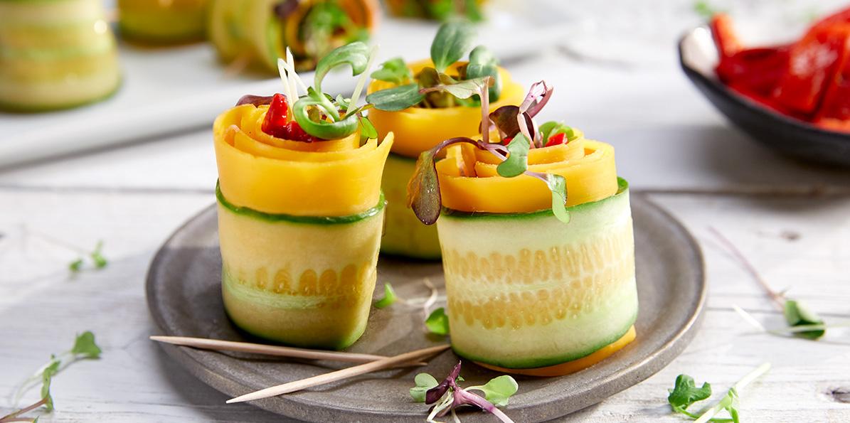 Prosciutto Cucumber Roll-Ups