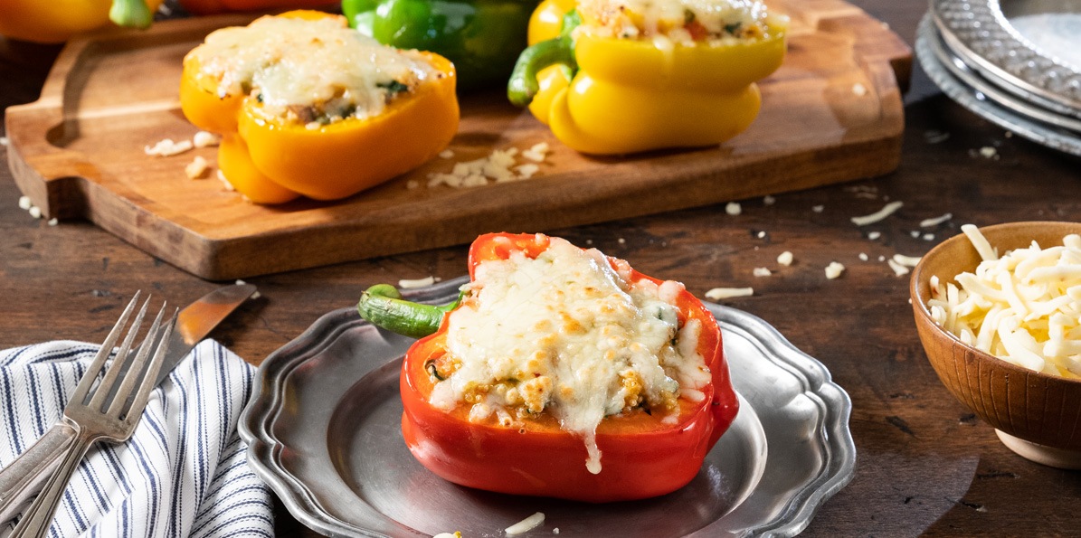 Rainbow Stuffed Peppers