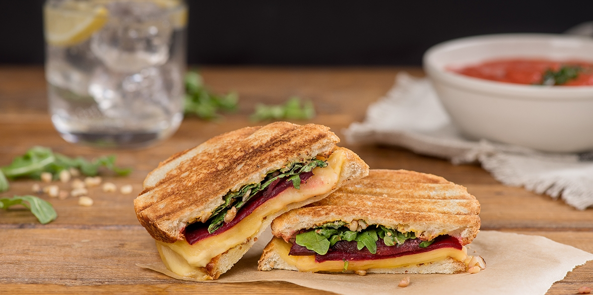 Roasted Beet and Gouda Grilled Cheese Sandwich