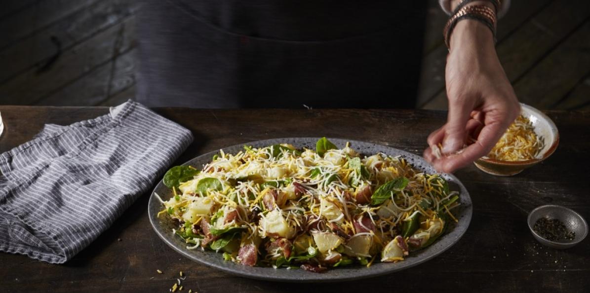 Potato & Spinach Salad