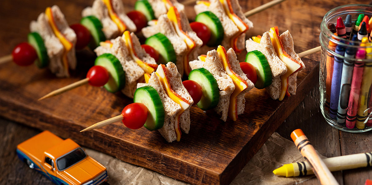 Mini Star Sandwich Skewers