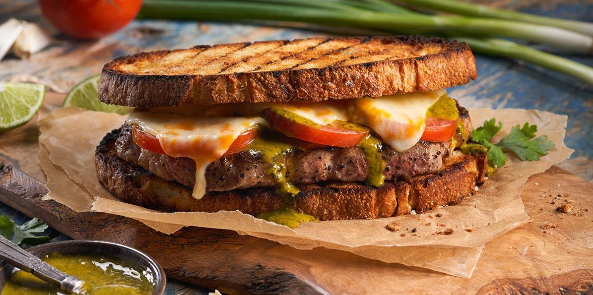 Steak Sandwich with Cilantro Lime Chimichurri