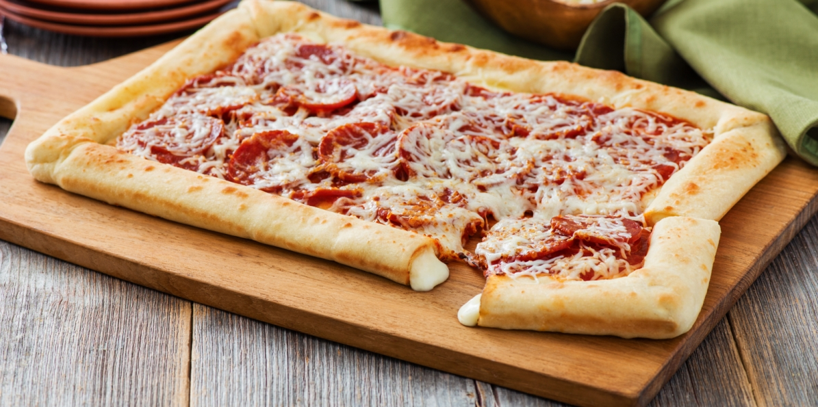Best homemade stuffed crust pizza recipe