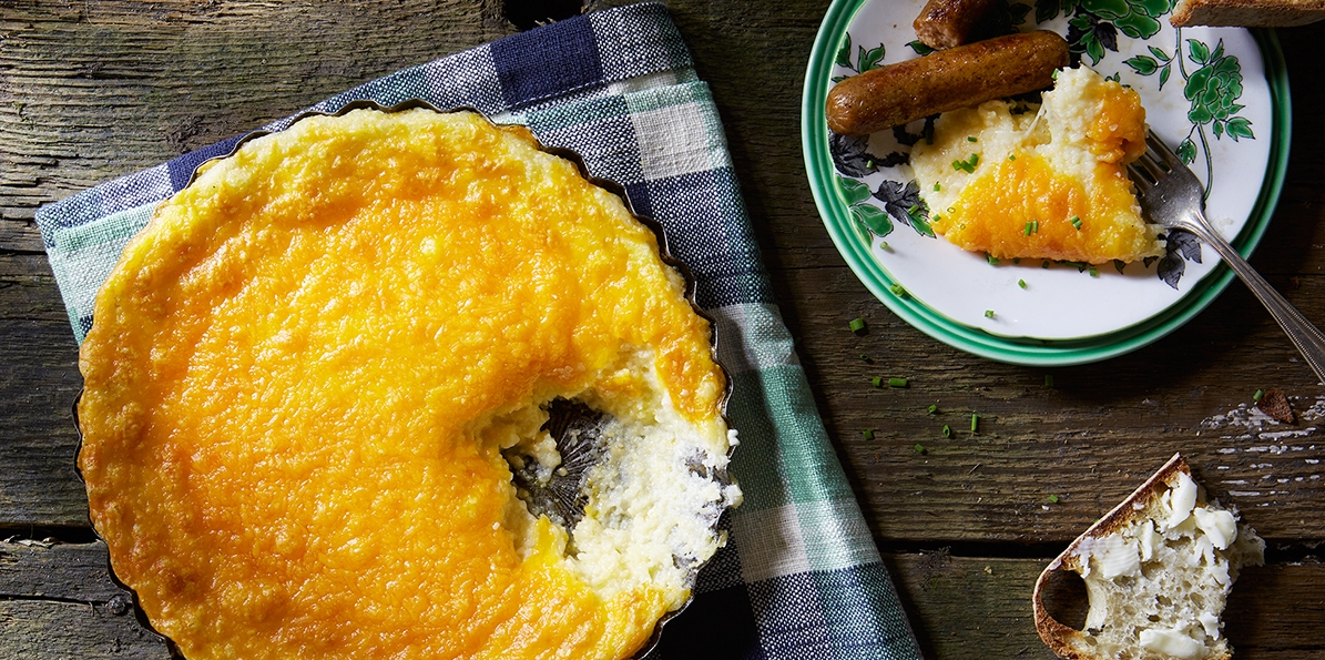 Swiss & Cheddar Baked Grits