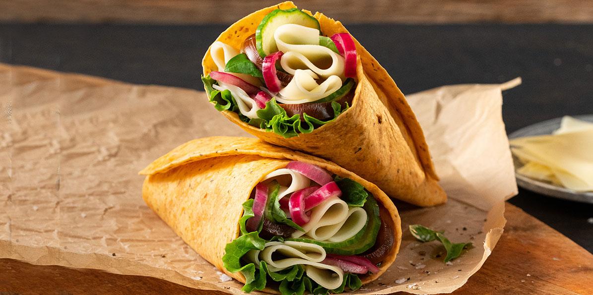 Veggie Swiss Wrap